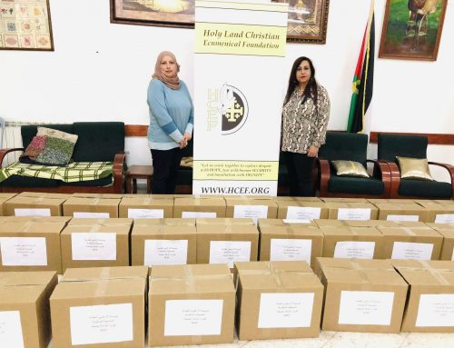 HCEF Distributed 150 food and health parcels to needy families in the Palestinian towns of Al-Taybeh, Jefnah, Jenin, Atara, Aboud, and Birzeit.