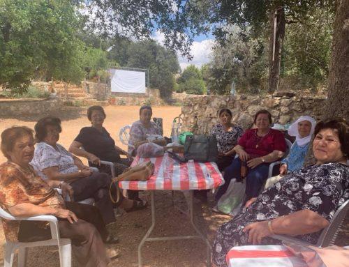 Birzeit Elders Enjoy the Beauty of Atara.