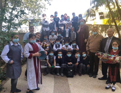In the ongoing celebration of the Senior Citizen International Day, HCEF included an event with the children of Tala'a Al Noor School and Kindergarten.