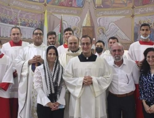 Gaza: Abdallah Jildeh, first Palestinian to become a religious of Institute of Incarnate Word.